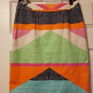 Trina Turk assembly pencil skirt